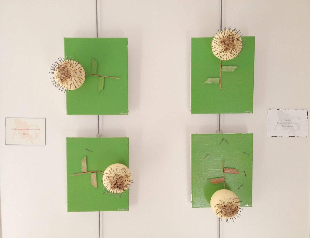 Exposition artistique Multiplicité - Toile en lin Flowers