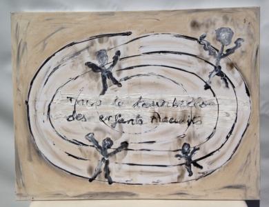 L'artiste plasticien breton présente la toile en lin Tourbillon