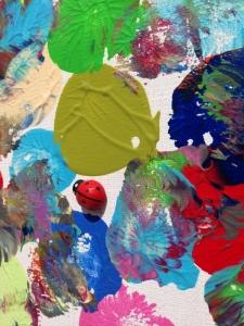 L'artiste plasticien breton présente la toile en lin Camouflage