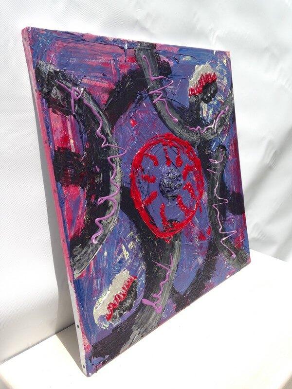 L'artiste plasticien breton présente la toile en lin Conception (en 9 mois)