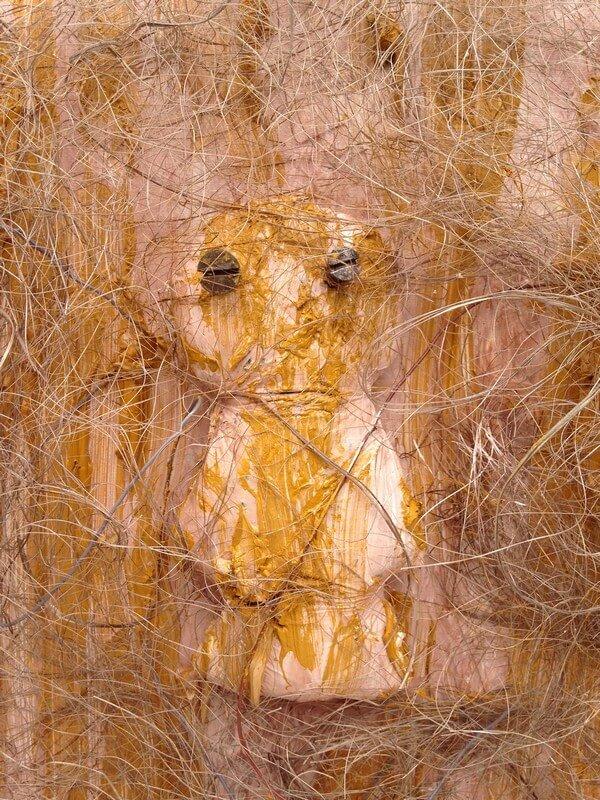 L'artiste plasticien breton présente la toile en lin Gri-gri