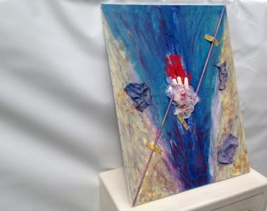 L'artiste plasticien breton présente la toile en lin Le Péché