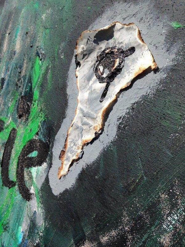 L'artiste plasticien breton présente la toile en lin Poésie des Sens