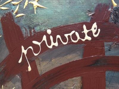 L'artiste plasticien breton présente la toile en lin Private