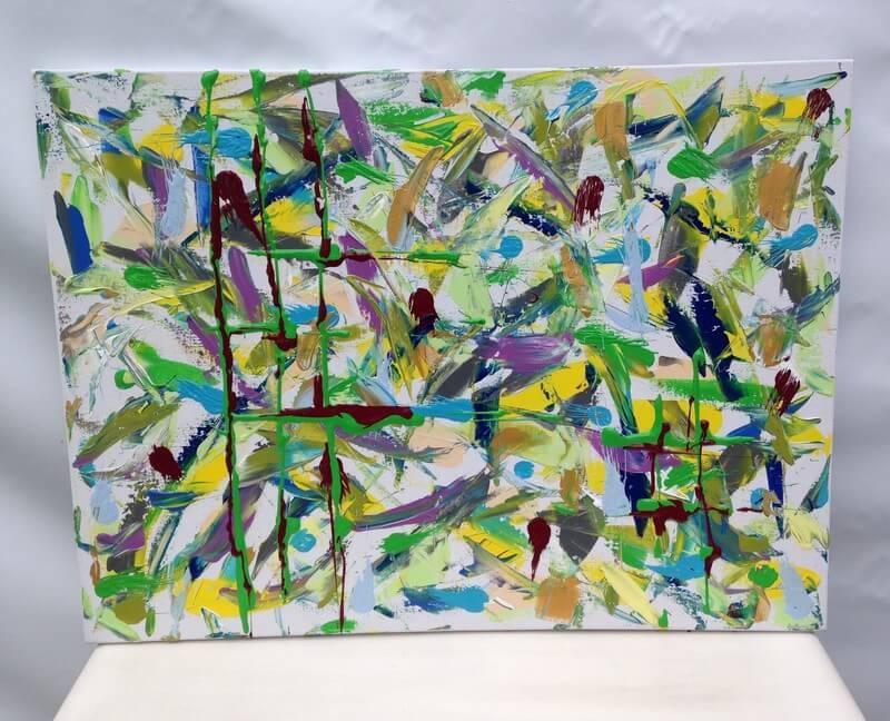 Toile en lin voli re art conceptuel peinture for Art conceptuel peinture