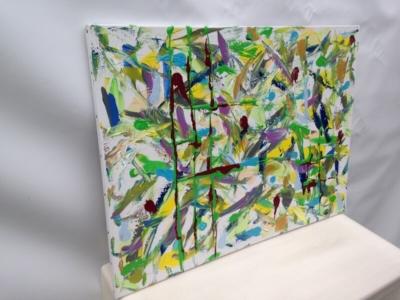 L'artiste plasticien breton présente la toile en lin Volière