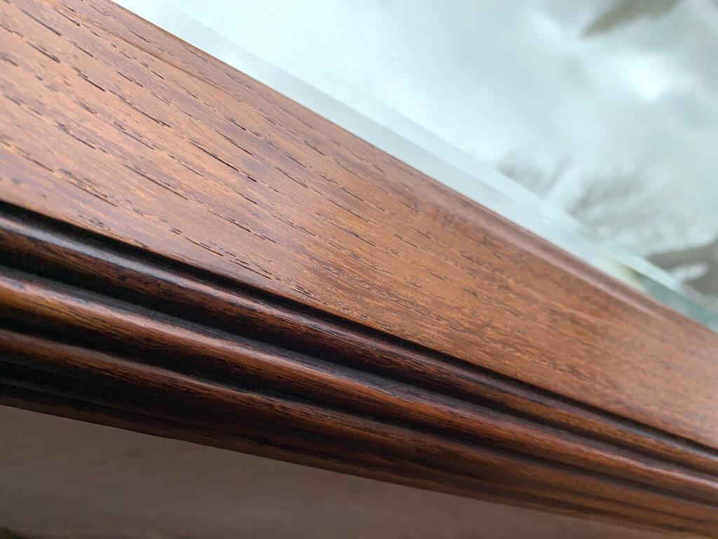 AG Décoration - Miroir en bois teinté foncé avant ponçage